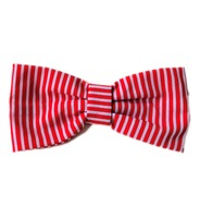 Stripe Red Bow Tie