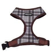 Brown/Grey Plaid Harness  *discontinued*