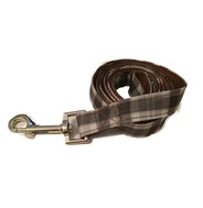 Brown/Grey Check Lead