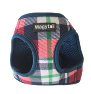 Navy/Red Plaid Step In Harness