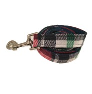 Navy/Red Plaid Lead