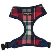 Navy/Red Plaid Harness  - small