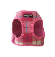 Pink Plaid Step In Harness