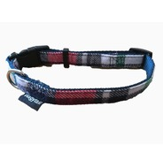 Navy / Red Plaid Collar