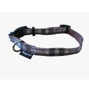 Brown / Grey Plaid Collar