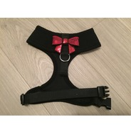 Black Harness With Small Red Sequin Bow