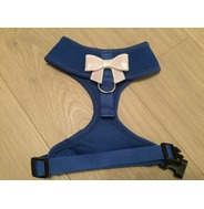 Blue Harness With Small White Sequin Bow