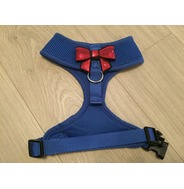 Blue Harness With Small Red Sequin Bow