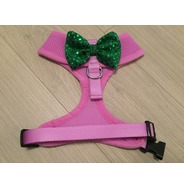 Lilac Harness With Green Handmade Sequin Bow