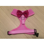 Lilac Harness With Pink Handmade Sequin Bow