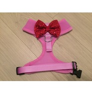 Lilac Harness With Red Handmade Sequin Bow