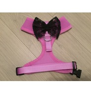 Lilac Harness With Black Handmade Lace Bow