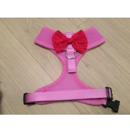 Lilac Harness With Red Handmade Lace Bow
