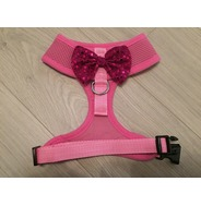 Pink Harness With Pink Handmade Sequin Bow
