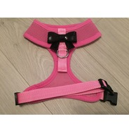 Pink Harness With Small Black Sequin Bow