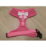 Pink Harness With Small White Sequin Bow