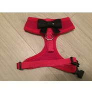 Red Harness With Small Black Sequin Bow