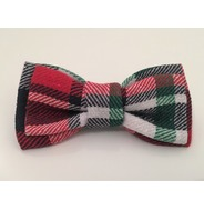 Red / Navy plaid bow tie
