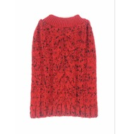 Knitted Jumper - Red (With Black Glitter Wool)
