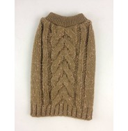 Knitted Jumper - Brown (With Rose Gold Glitter Wool)