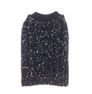 Knitted Jumper - Black (With Silver Glitter Wool)
