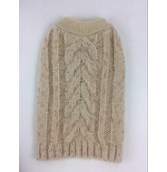 Knitted Jumper - Beige (With Rose Gold Glitter Wool)