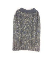 Knitted Jumper - Grey (With Gold Glitter Wool)