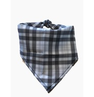 Grey Plaid Bandana