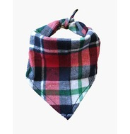 Navy/Red Plaid Bandana