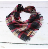 Spartan Plaid Frayed Bandana