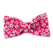 Funky Cerise Pink Daisies Bow Tie