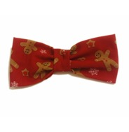 Red Gingerbread Man Bow Tie