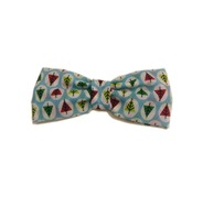 Baby Blue Christmas Tree Bow Tie