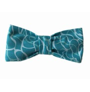 Reflection Teal Bow Tie