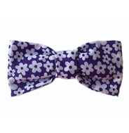 Funky Purple Daisies Bow Tie