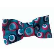 Jersey Retro Teal Bow Tie