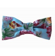 Floral Blue Rose Bow Tie