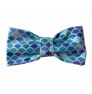 Mermaid Blue Scales Bow Tie