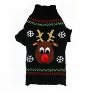 Black Reindeer Jumper
