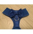 Blue Harness WIth Blue Handmade Sequin Bow